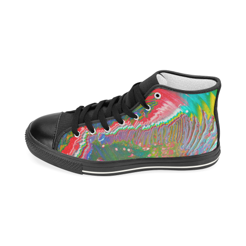 rainbow errthang. Women's Classic High Top Canvas Shoes (Model 017)