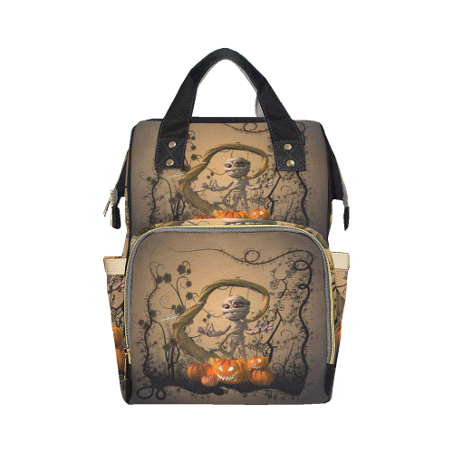 Funny mummy with pumpkins Multi-Function Diaper Backpack (Model 1688)
