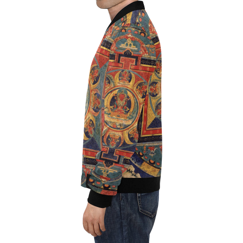 Protection, by Ivan Venerucci Italian Style All Over Print Bomber Jacket for Men (Model H19)