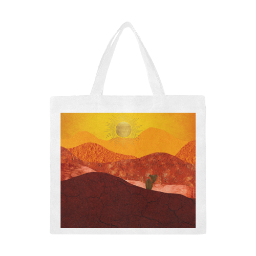 In The Desert Canvas Tote Bag/Large (Model 1702)
