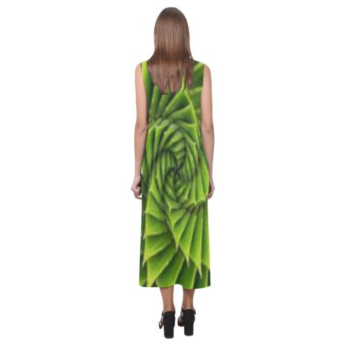 cubic floower Phaedra Sleeveless Open Fork Long Dress (Model D08)