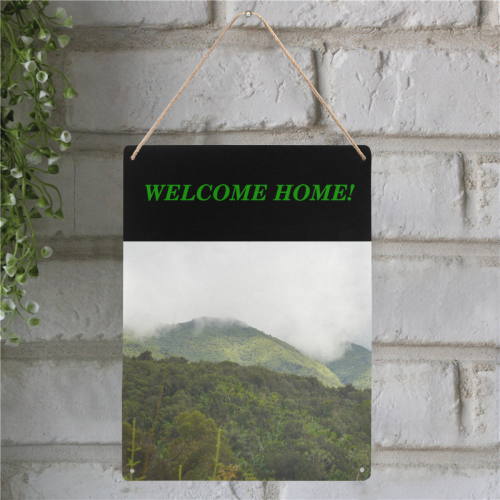 "Yunque rainforest - welcome home DSC_2319 Metal Tin Sign 12""x16"""