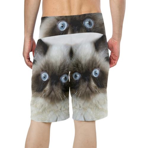 Funny Cat Men's All Over Print Board Shorts (Model L16)