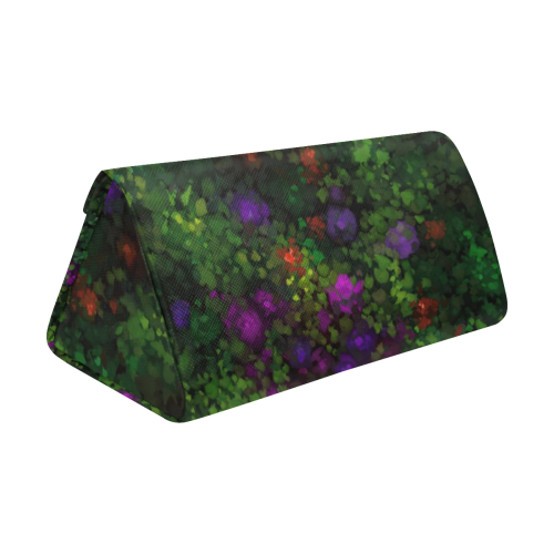 Wild Rose Garden, Oil painting. Red, purple, green Custom Foldable Glasses Case