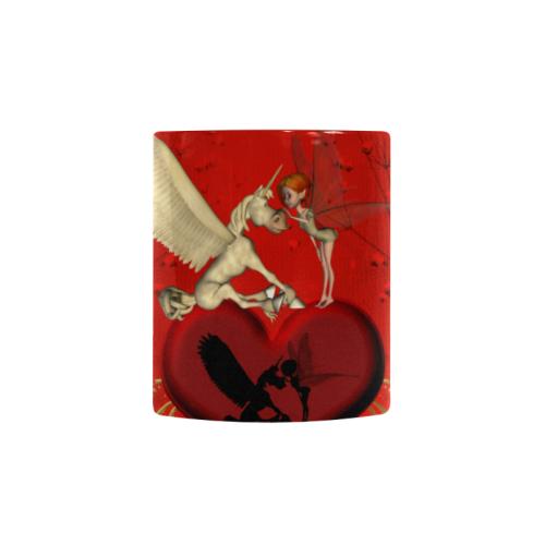 Cute fairy with pegasus Custom Morphing Mug (11oz)