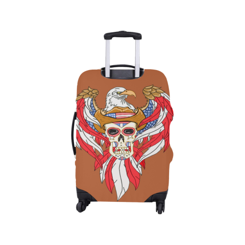 "American Eagle Sugar Skull Rust Brown Luggage Cover/Small 18""-21"""