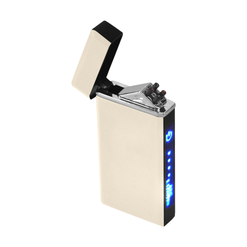 color antique white Rectangular USB Lighter (Lateral Button)