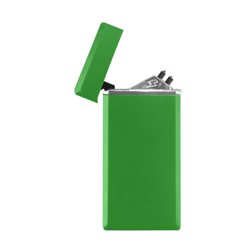 color forest green Rectangular USB Lighter (Lateral Button)