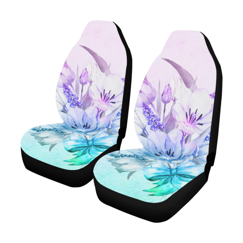 Wonderful flowers in soft watercolors Car Seat Covers (Set of 2)