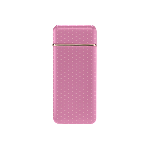 Polka Dotted Pink USB Rechargeable Lighter