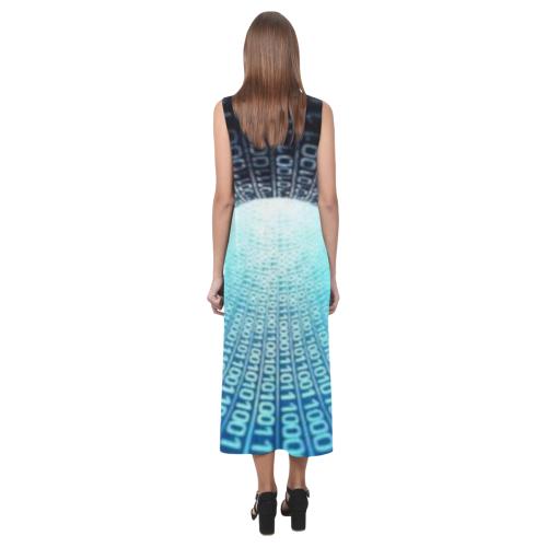 Fashion numbers Phaedra Sleeveless Open Fork Long Dress (Model D08)