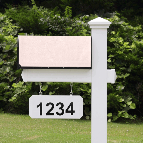 color misty rose Mailbox Cover