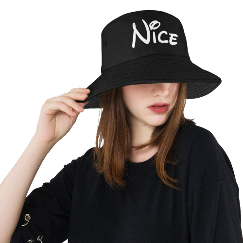 Christmas - Nice...Oh So Nice! (Black and White) All Over Print Bucket Hat