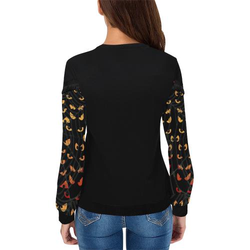 Watch by Nico Bielow Women's Fringe Detail Sweatshirt (Model H28)
