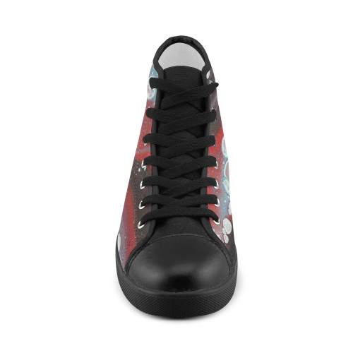 planetary drift high tops Women's High Top Canvas Shoes (Model 002)