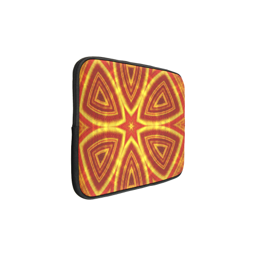 red and gold kaleidoscope Custom Sleeve for Laptop 15.6""