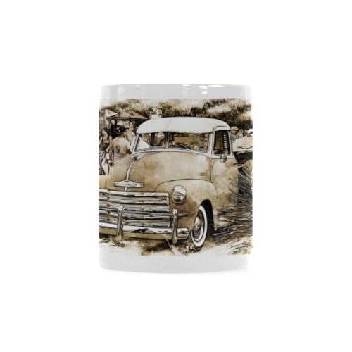 1950's Old Cheverolet Truck Custom White Mug (11OZ)