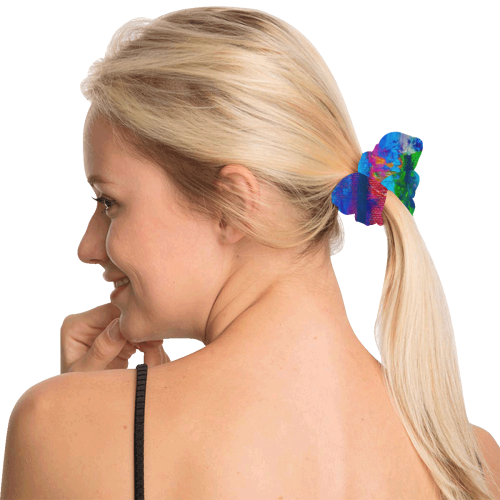 Bright and Happy All Over Print Hair Scrunchie