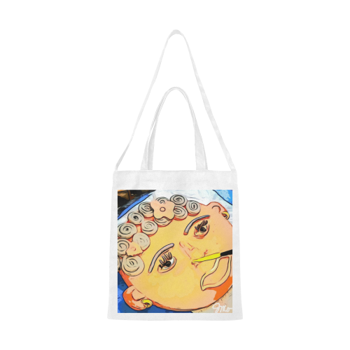 Face Of Love Canvas Tote Bag/Medium (Model 1701)