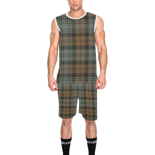 CAMPBELL CLAN WEATHERED TARTAN 2 All Over Print Basketball Uniform