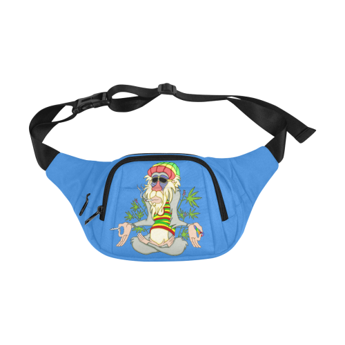 Hippie Ganja Guru Blue Fanny Pack/Small (Model 1677)
