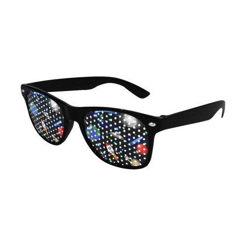 Galaxy Universe - Planets, Stars, Comets, Rockets Custom Goggles (Perforated Lenses)