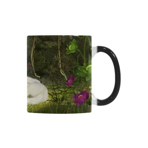 Cute unicorn foal and sweet elf Custom Morphing Mug (11oz)