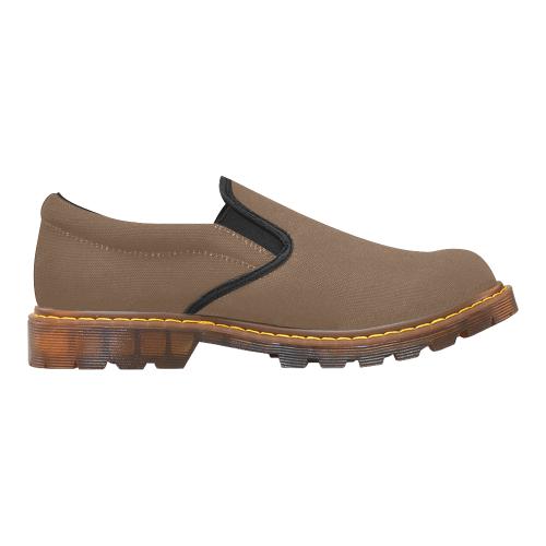 basic dark coffee brown Martin Men's Slip-On Loafer (Model 12031)