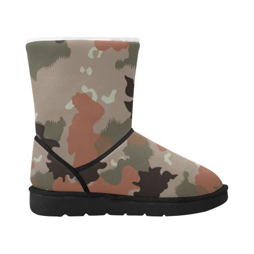 desert camouflage Camu Camu ETHNIC BOOTS Unisex Single Button Snow Boots (Model 051)