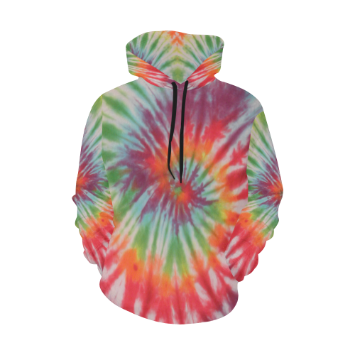 Spiral Hoodie for Men All Over Print Hoodie for Men (USA Size) (Model H13)