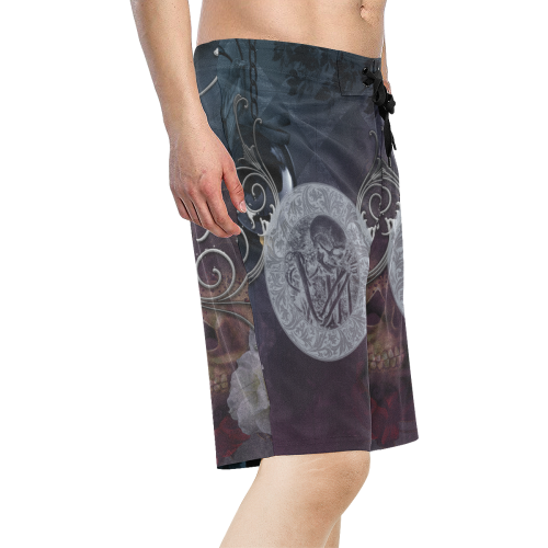 Amazing skeleton Men's All Over Print Board Shorts (Model L16)