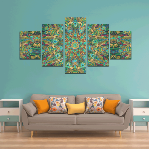 mandala spring 11 Canvas Wall Art Z (5 pieces)