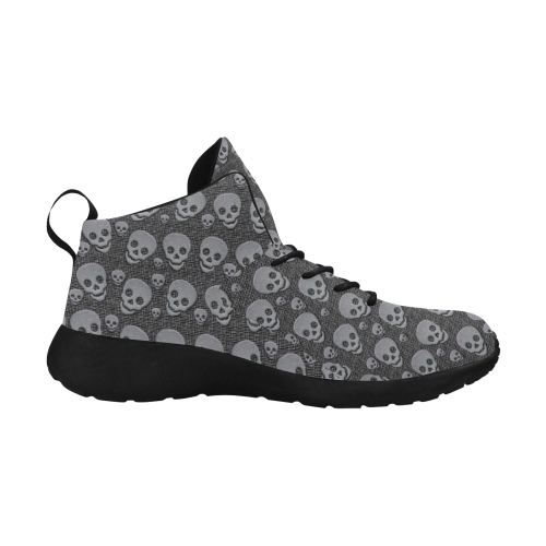 SKULLS BLACKANDGREY Women's Chukka Training Shoes (Model 57502)