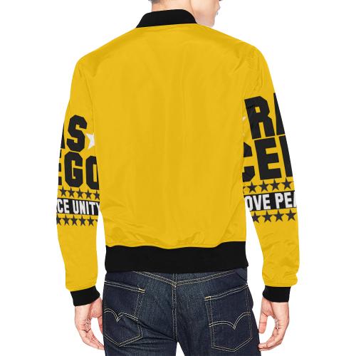 Ras CeeGo blackandwhite All Over Print Bomber Jacket for Men (Model H19)