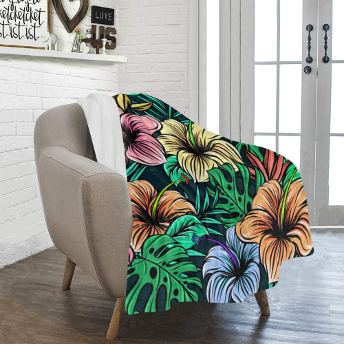 "Hibiscus Dream Ultra-Soft Micro Fleece Blanket 40""x50"""