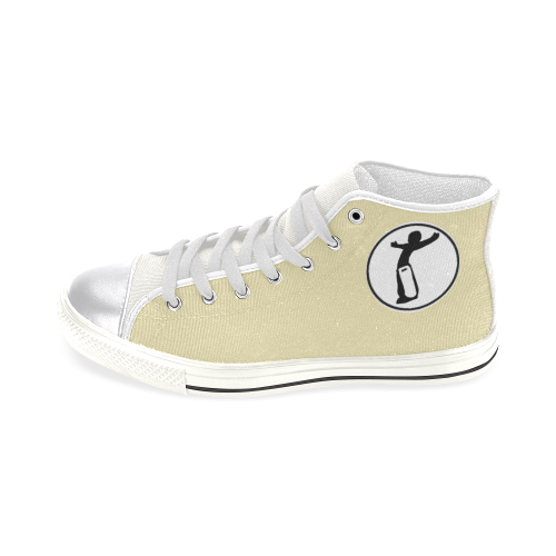 DW womens nude remix Women's Classic High Top Canvas Shoes (Model 017)