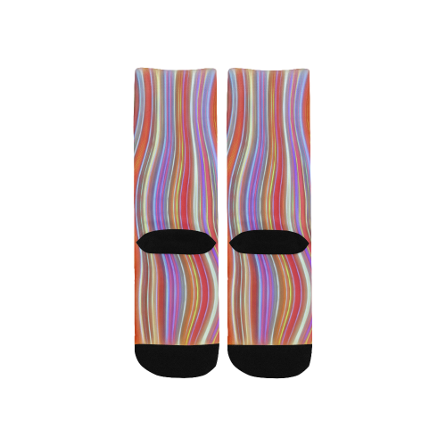 Wild Wavy Lines I Custom Socks for Kids