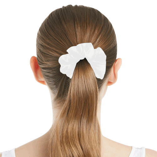 color white All Over Print Hair Scrunchie