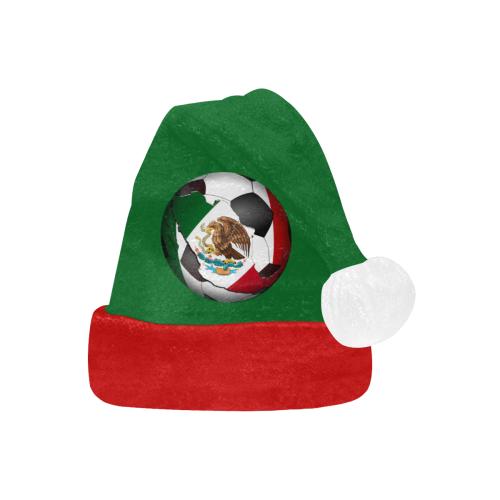 Mexican Flag Soccer Ball on Green Santa Hat