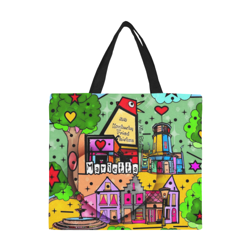 Marietta 2020 Pop Art by Nico Bielow All Over Print Canvas Tote Bag/Large (Model 1699)