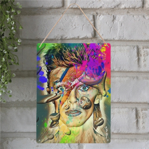 "David by Nico Bielow Metal Tin Sign 12""x16"""