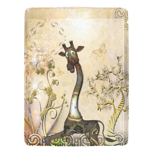 "Funny steampunk giraffe Ultra-Soft Micro Fleece Blanket 60""x80"""