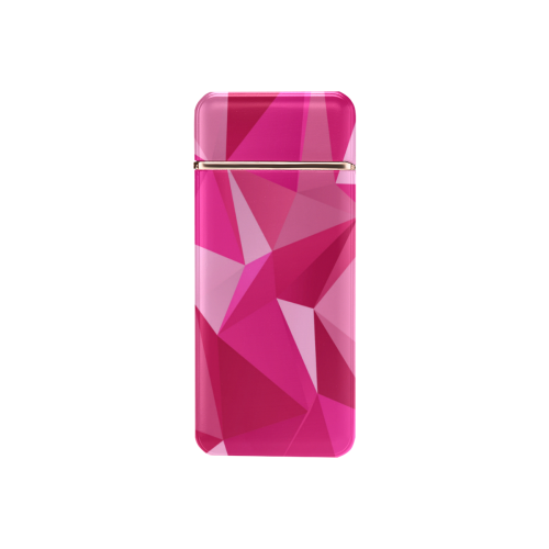 Abstract Pink Triangles USB Rechargeable Lighter