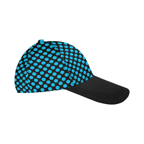 Blue Polka Dots All Over Print Dad Cap C (6-Pieces Customization)