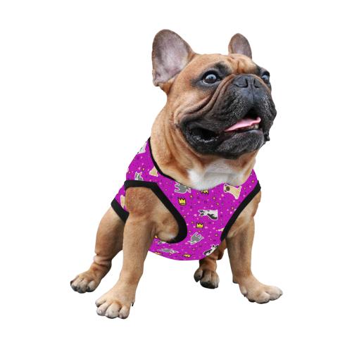 Pugs Boston Frenchies Fuchsia Dog Shirt All Over Print Pet Tank Top