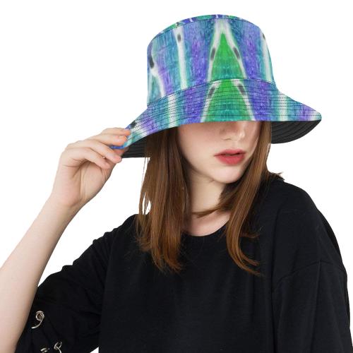 blue crocodile All Over Print Bucket Hat