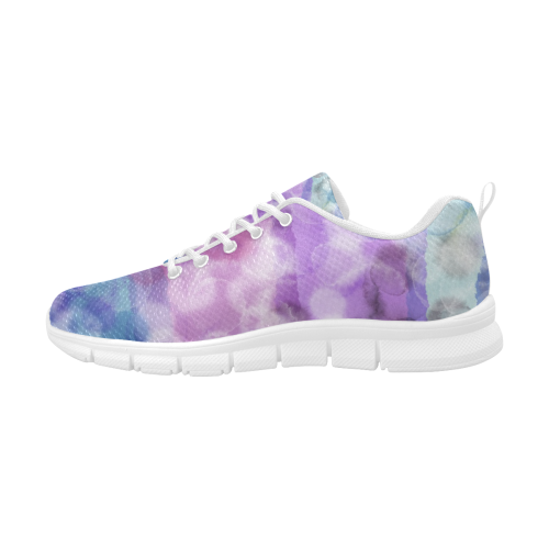 WATERCOLOR COLORFUL Women's Breathable Running Shoes (Model 055)