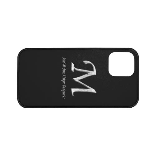 "Mud-di Signature Title Black Rubber Case for iPhone 12 (6.1"")"