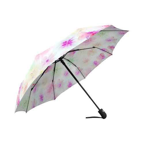 watercolor flowers 4 Auto-Foldable Umbrella (Model U04)
