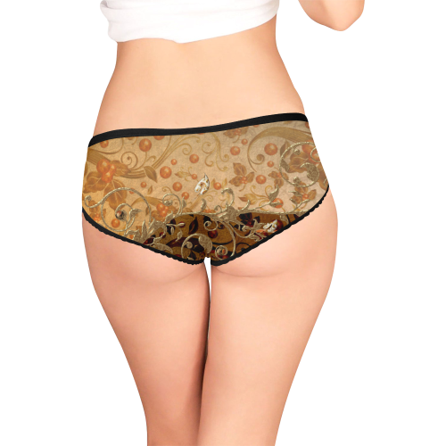 Wonderful decorative floral design Women's All Over Print Girl Briefs (Model L14)